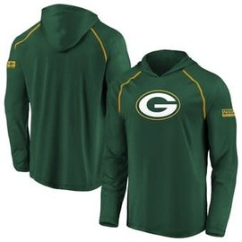Green Bay Packers Men's Defender Primary Logo Lightweight Pullover Hoodie