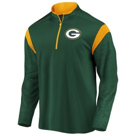 Green Bay Packers Men's Defender Mission Green Poly 1/4 Zip