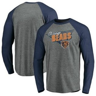 Fanatics Chicago Bears Men's Triangular Transition Long Sleeve Tee