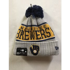 Milwaukee Brewers Men's Knit Stripe Alt 2 Logo Hat