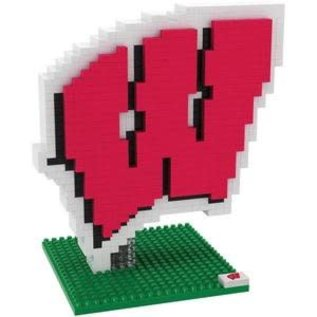 Forever Collectibles Wisconsin Badgers Logo BRXLZ