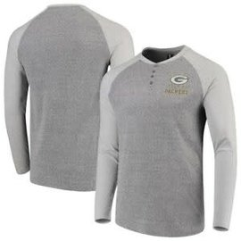 College Concepts LLC Green Bay Packers Men's Homestretch Henley Long Sleeve Tee
