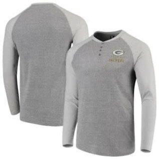 Green Bay Packers Men's Homestretch Henley Long Sleeve Tee