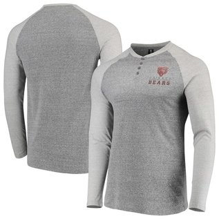 College Concepts LLC Chicago Bears Men's Homestretch Henley Long Sleeve Tee