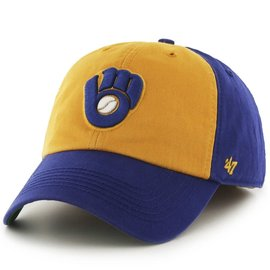 Milwaukee Brewers Franchise Hat - Yellow Front, Royal Bill & Back