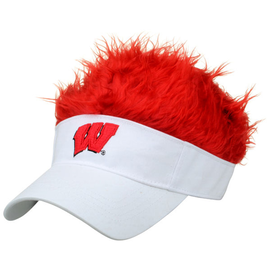 Wisconsin Badgers Flair Hair Visor
