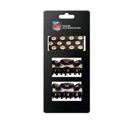Green Bay Packers 5 Pc Hair Clip Set