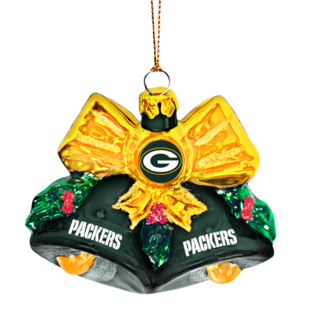 "Green Bay Packers 3"" Glass Bell Ornament"