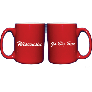 Wisconsin Badgers Go Big Red Coffee Cup