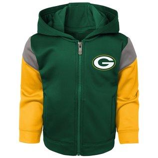 Outerstuff Green Bay Packers Infant Blocker Performance Full Zip Hoodie