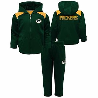 Green Bay Packers Infant Play Action Full Zip Hoodie and Pant Set