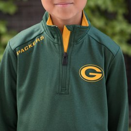 Outerstuff Green Bay Packers Youth Unlock 1/4 Zip