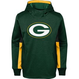 Green Bay Packers Youth Status Performance Pullover Hoodie