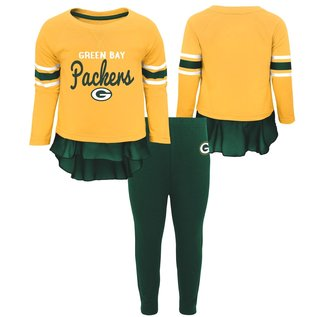 Outerstuff Green Bay Packers Infant Girls Mini Formation Long Sleeve Tee and Leggings Set
