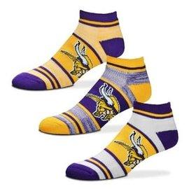 Minnesota Vikings Men's Triplex Heathered 3 Pack of Socks Large