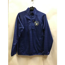 Milwaukee Brewers Men's Centerfield Sweater Knit 1/4 Zip