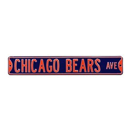 Chicago Bears Blue Avenue Sign