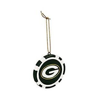 Evergreen Enterprises Green Bay Packers Game Chip Ornament