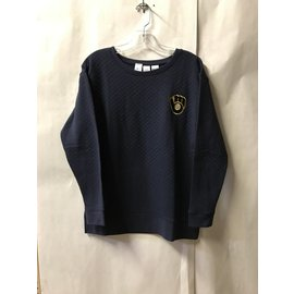 Milwaukee Brewers Women's Lunar Quilted Long Sleeve Crewneck
