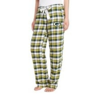 College Concepts LLC Green Bay Packers Women's Piedmont Plaid Flannel Pant