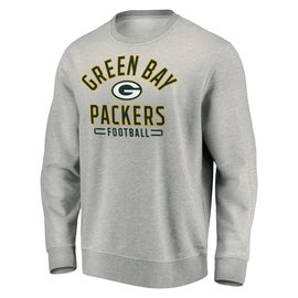Green Bay Packers Men's Heather Gray Crewneck Sweatshirt