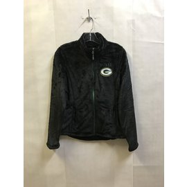 Green Bay Packers Women's Black Fleece Lightweight Jacket