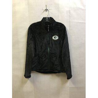 Green Bay Packers Women's Black Fleece Lightweight Jacket