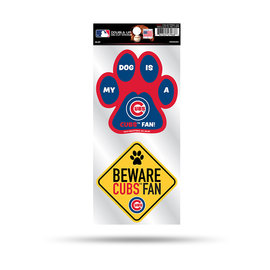 Chicago Cubs Double Up Pet Themed Die Cut Sticker