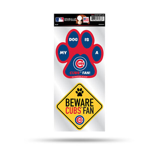 Rico Industries, Inc. Chicago Cubs Double Up Pet Themed Die Cut Sticker