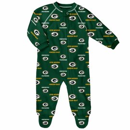 Green Bay Packers Infant Raglan Zip Coverall
