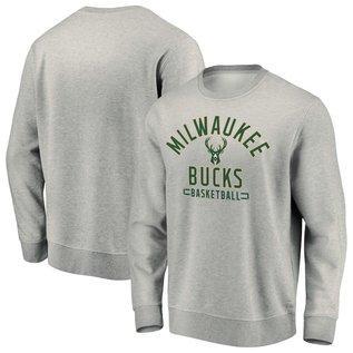 Fanatics Milwaukee Bucks Men's Team Arc Stack Fleece Crewneck