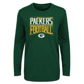 Outerstuff Green Bay Packers Youth Energy Long Sleeve Tee