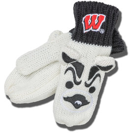 Wisconsin Badger Youth Bucky Mittens