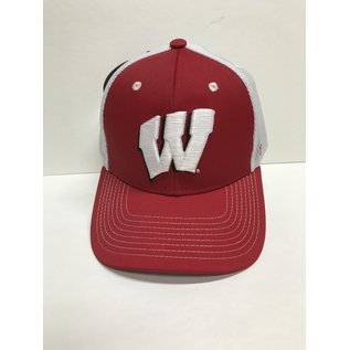 Wisconsin Badgers Honeycomb Fitted Hat