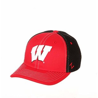 Zephyr Wisconsin Badgers Youth Chute Adjustable Hat