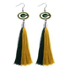 Little Earth Green Bay Packers Tassel Earrings