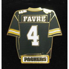 Green Bay Packers Favre Jersey Pin