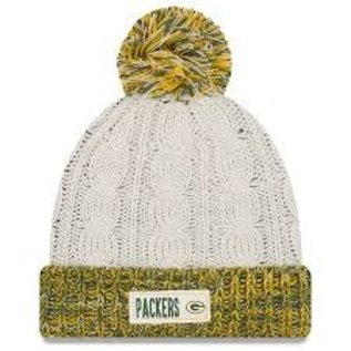 New Era Green Bay Packers Women's Rugged Tag Knit Hat