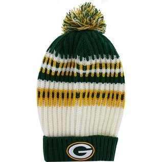 New Era Green Bay Packers Women's Wintry Banded Cuffed Knit Hat