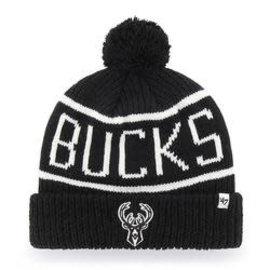 '47 Brand Milwaukee Bucks Black Calgary Cuffed Knit Hat