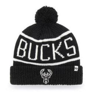 Milwaukee Bucks Black Calgary Cuffed Knit Hat