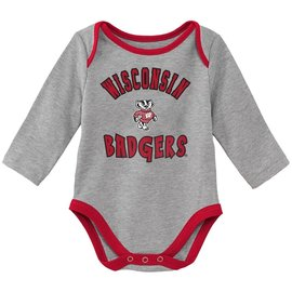 Wisconsin Badgers Youth Trophy Long Sleeved Onesie