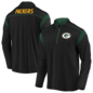 Green Bay Packers Men's Defender Mission Black 1/4 Zip