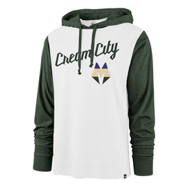 Milwaukee Bucks White Wash City Pregame Call Back Men's Hoodie