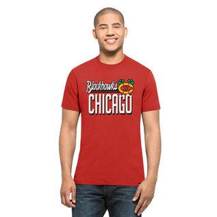 '47 Brand Chicago Blackhawks Men's Splitter Short Sleeve Tee