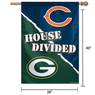 Green Bay Packers House Divided Vertical Flag Packers Vs Bears