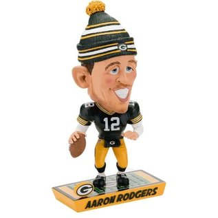 Forever Collectibles Green Bay Packers Aaron Rodgers Caricature Bobblehead