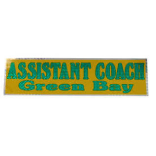 Green Bay Packers Assistant Coach Bumper Sticker