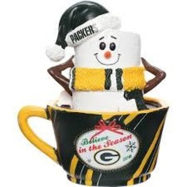 Forever Collectibles Green Bay Packers Smore in a Cup Tabletop Figurine