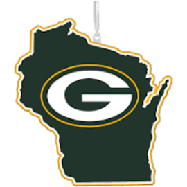 Evergreen Enterprises Green Bay Packers State Ornament